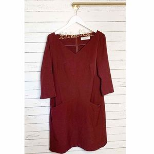 MM Lafleur Dresses - MM LaFleur Alexandra 2.0 Dress In Claret